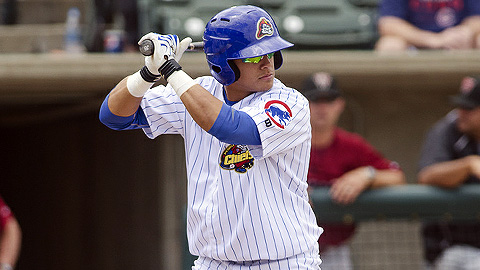Javier Baez is batting .315 in his first 15 Class A games.